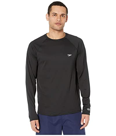 Speedo Easy Long Sleeve Swim Shirt (Speedo Black) Men
