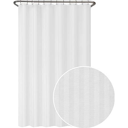 Wenko Shower Curtain Onyx Polyester 180 x 200 cm Washable Shower Curtain Rod