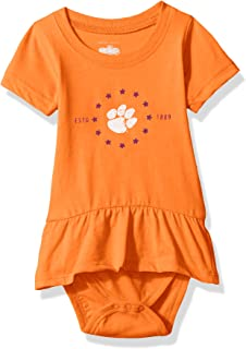 Cotton Willy NCAA Girls Short Sleeve Ruffle Onesie