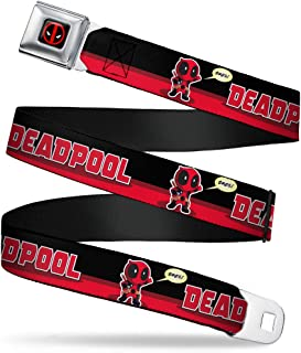 Buckle-Down Men's Seatbelt Belt Deadpool Wdp040