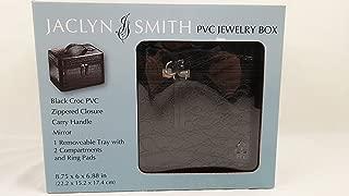 Jaclyn Smith Black Mock Croc Jewelry Organizer Travel Box