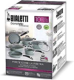 Bialetti Donatello PETRAVERA Rechargeable Suitable for Induction, Aluminium, Grey Stone, 58.5x 39.5x 28cm