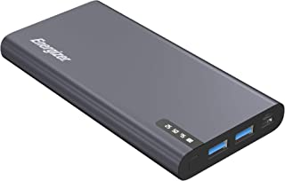 Energizer 10000mAh Power Bank, Space Grey, Power Delivery, Two Inputs and Outputs,USB-C and USB-A