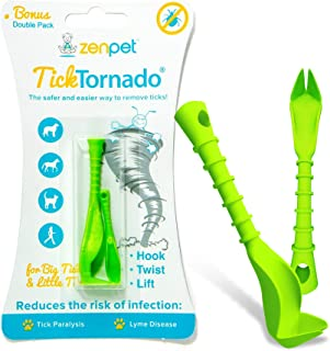 Tick Tornado ZenPet Tick Remover for Dogs & Cats & People - Value Pack - Easy and Fast Tick Removal Tool