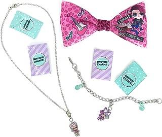 L.O.L. Surprise! Charm Necklace Bundle with Charm Bracelet and Bow (3 Items)