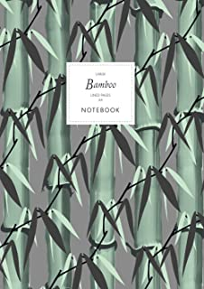 Bamboo Notebook - Lined Pages - A4 - Large: (Dark Grey Edition) Notebook 192 lined pages (A4 / 8.27x11.69 inches / 21x29.7cm)