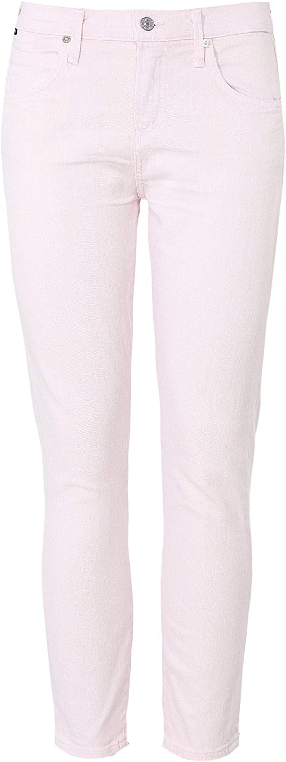 Citizens Of Humanity Women's Elsa Mid Rise Slim Fit Cropped Jeans Pink