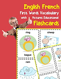 English French First Words Vocabulary with Pictures Educational Flashcards: Fun flash cards for infants babies baby child ...