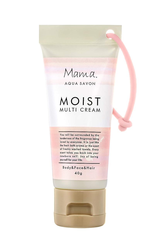 女性浮くママアクアシャボン モイストマルチクリーム フラワーアロマウォーターの香り 18A 40g