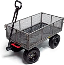 Gorilla Carts GORMP-12 Steel Dump Cart with Removable Sides and 2-In-1 Convertible..