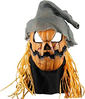 Scary Costume Party Props or Cosplay Halloween Pumpkin Head Masks Yellow