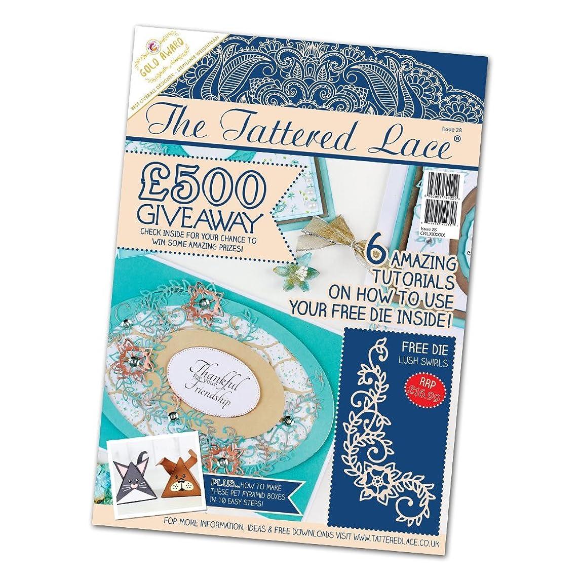 The Tattered Lace Craft Magazine Issue 28 + Free Lush Swirls Metal Die Stencil