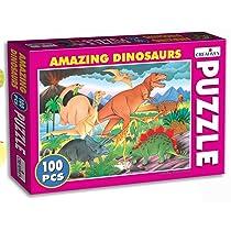 Creative Educational Aids P. Ltd. Cat;dinosaur Educational Games & Puzzle , 100 Piece, Multicolour
