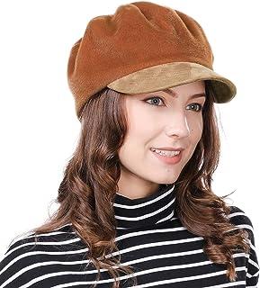 669de5e0a6b47 Womens Newsboy Cap Visor Beret Paperboy Conductor Painter Winter Fall Hat  56-59cm