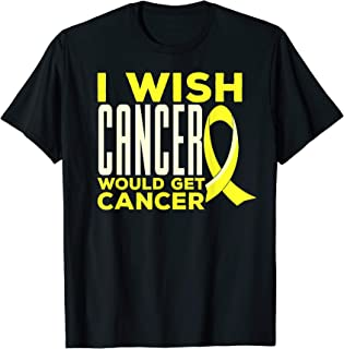 Childhood Cancer Awareness Wish T-Shirt with Gold Ribbon T-Shirt