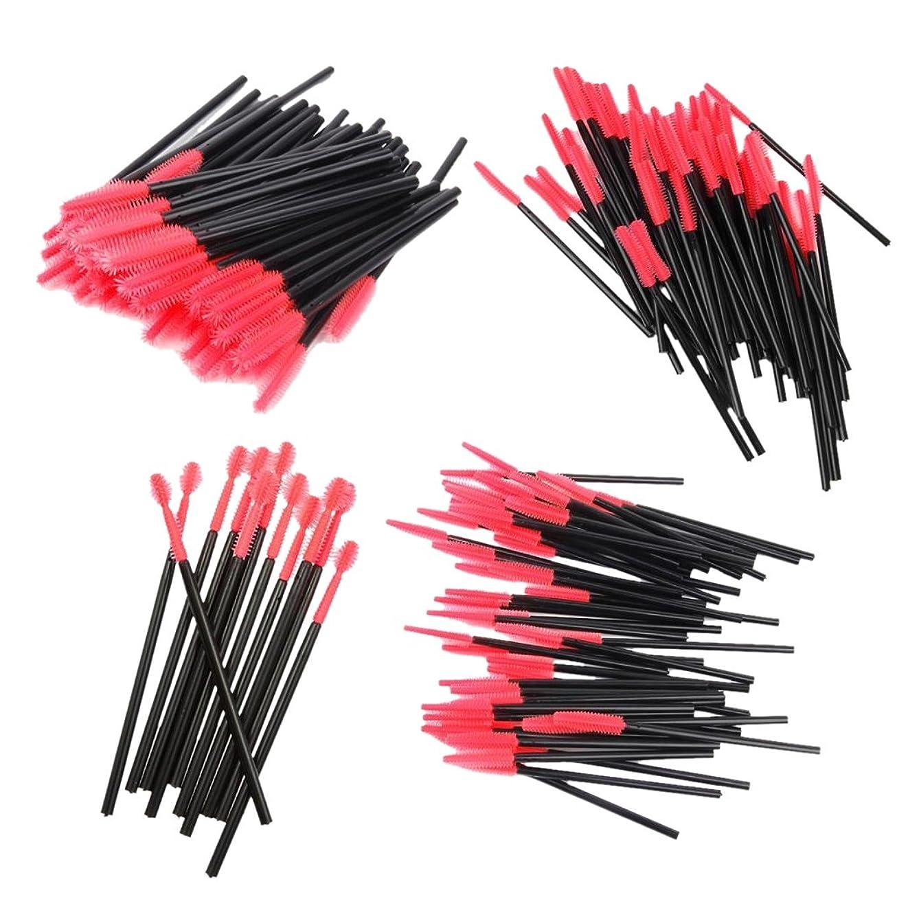 ニックネームパフオーケストラDYNWAVE アイラッシュスクリューブラシ 使い捨て まつげブラシ まつげエクステ用品 4種類 約200本入