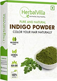 Herbalvilla Indigo Powder for black hair (200 Grams)