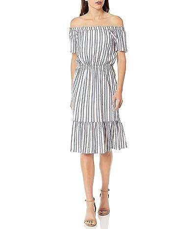 J.Crew Off-the-shoulder Striped Peasant Dress