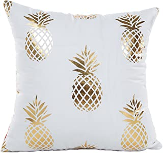 4TH Emotion Gold Pineapple Throw Pillow Case Cushion Cover 18