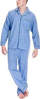 Modern Casuals Mens Mid Blue Traditional Pyjamas Medium