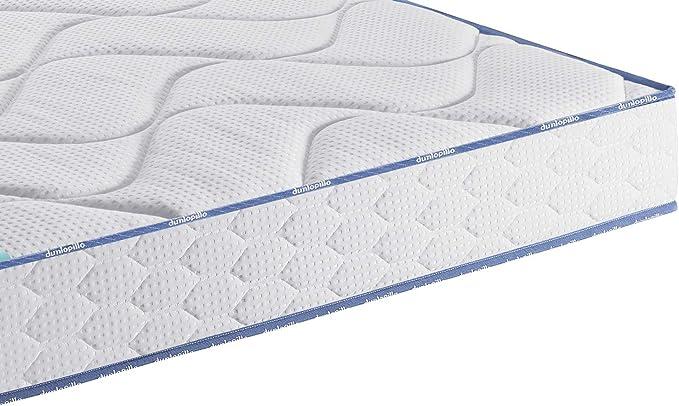 Dunlopillo Futée Conjunto colchón y somier + Patas, Blanco y Gris