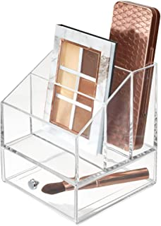 iDesign Clarity Cosmetic Palette Organizer with Drawer for Vanity or Cabinet to Hold Makeup, Beauty Products, Hair Accesso...