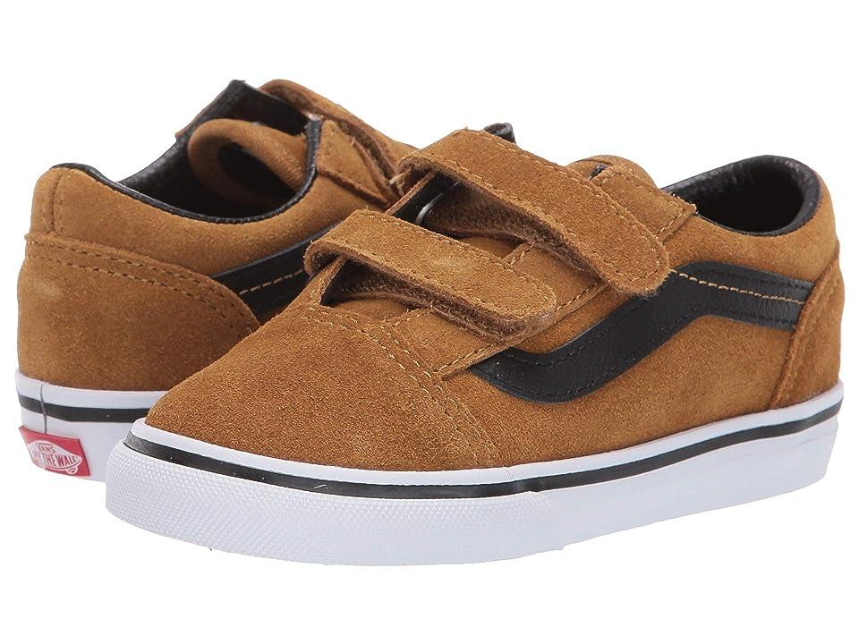 Vans Kids Old Skool V (Infant/Toddler) ((Suede) Cumin/Black) Boys Shoes