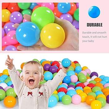 Dadoudou Pit Balls, Colorful Fun Phthalate Free BPA Free Crush Proof Balls Soft Plastic Air-Filled Ocean Ball Playbal...