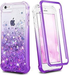 Ruky - Funda para iPhone 6 Plus, 6S Plus, 7 Plus, 8 Plus, con purpurina transparente, cuerpo completo, resistente, con pro...