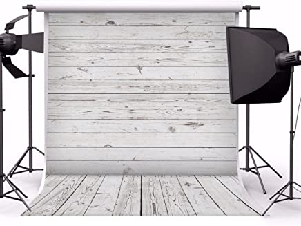 Yeele 8x10ft Gray White Wood Plank Photo Backdrops Vinyl Vintage Wooden Floor Wall Photography Background Party Pet Baby Girl Adult Photo Studio Shooting Props