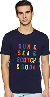 Men's Multicolour Text T-Shirt