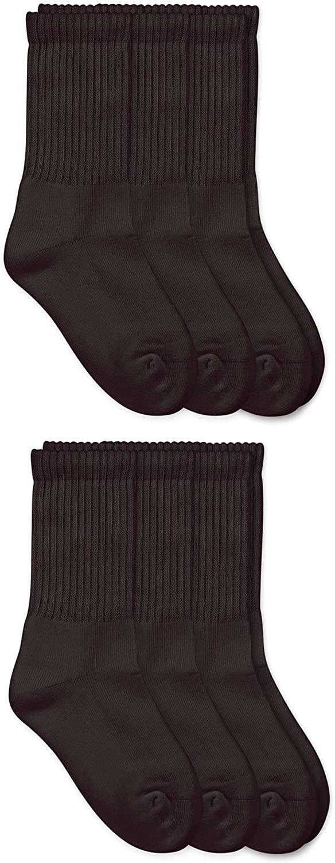 Jefferies Socks Boys' Seamless Sport Crew Half-Cushion Socks (Pack of Six)