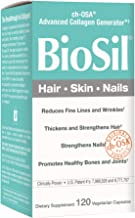 BioSil by Natural Factors, Hair, Skin, Nails, Supports Healthy Growth and Strength, Vegan Collagen, Elastin and Keratin Generator, 120 capsules (120 servings)