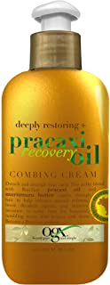 OGX Deeply Restoring + Pracaxi Recovery Oil AntiFrizz LeaveIn Combing Cream with Murumuru Butter SulfateFree Surfactants C...