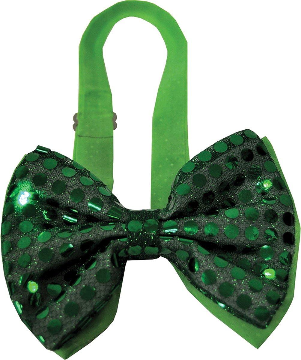 Morris Costumes Men's Bow Tie Green Sequin Light Up