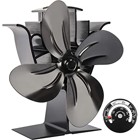 "Vvciic Double Stove Fan /â/€/""8 Blades /â/€/"" Two Heat Powered Fans for Wood//Log Burners or Fireplace /â/€/"" Quiet Design /â/€/"" Circulates Warm//Heated Air /â/€/"" Eco-Friendly and Econom"