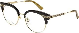 SYLVIE Stripe 0285 Gold Black Glitter Metal Optical Eyeglasses GG0285O 50mm