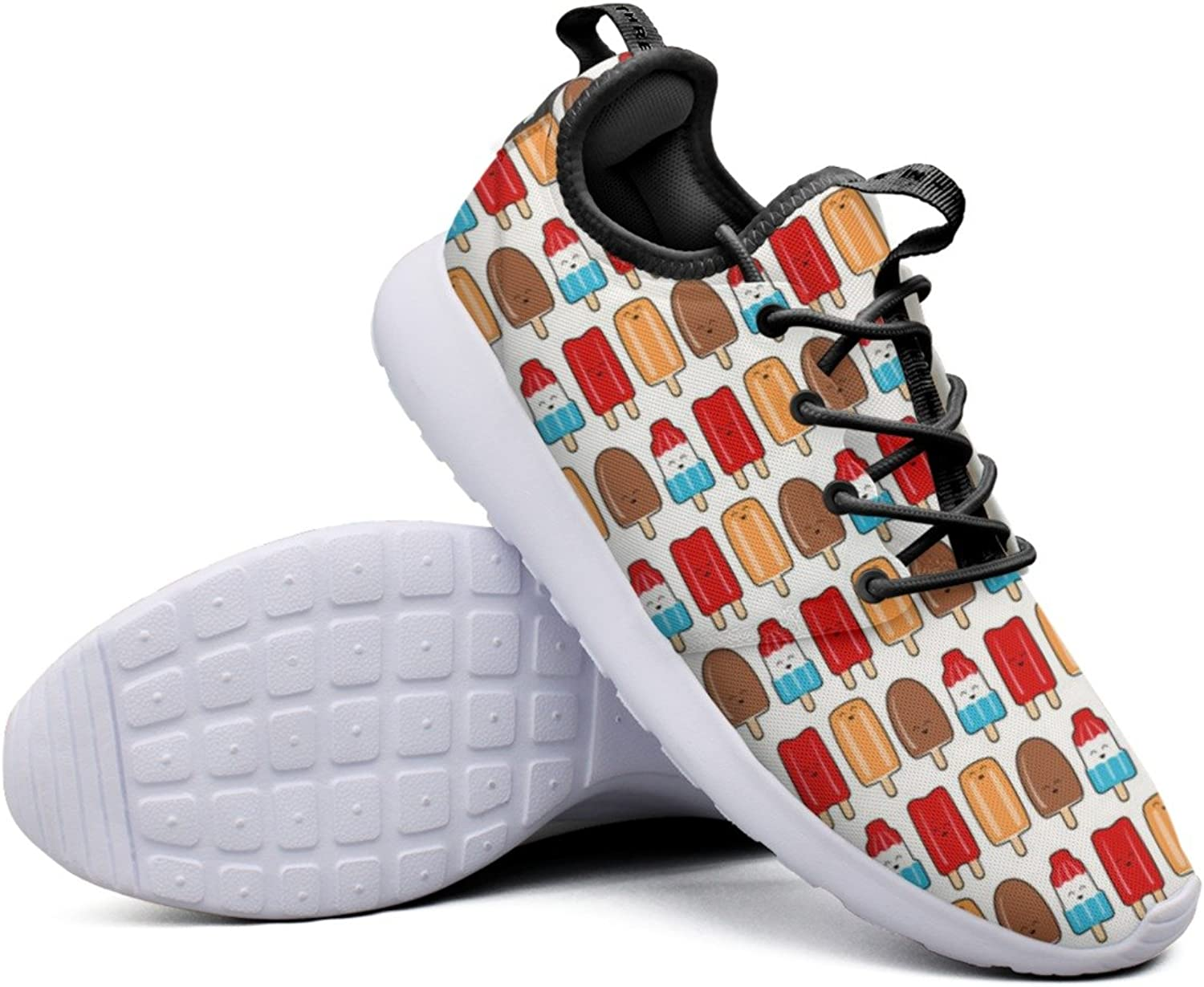 Fashion Sneakers shoes For Women Summer Ice Cream Happy Ice Pops Designer Lightweight Breathable Mesh Womens Sneakers shoes