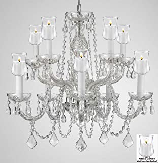 Crystal Chandelier Lighting Chandeliers W/Candle Votives H25