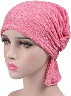 Ever Fairy 6 Colors Chemo Cancer Head Scarf Hat Cap Ethnic Cloth Print Turban Headwear Women Women's Ruffle Beanie Scarf