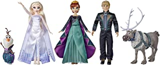 Disney Frozen 2 Frozen Finale Set, Anna, Elsa, Kristoff, Olaf, Sven Dolls with Fashion Doll Clothes and Accessories, Toy f...