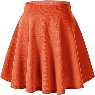 9aa297fea Urban CoCo Women's Basic Versatile Stretchy Flared Casual Mini Skater Skirt