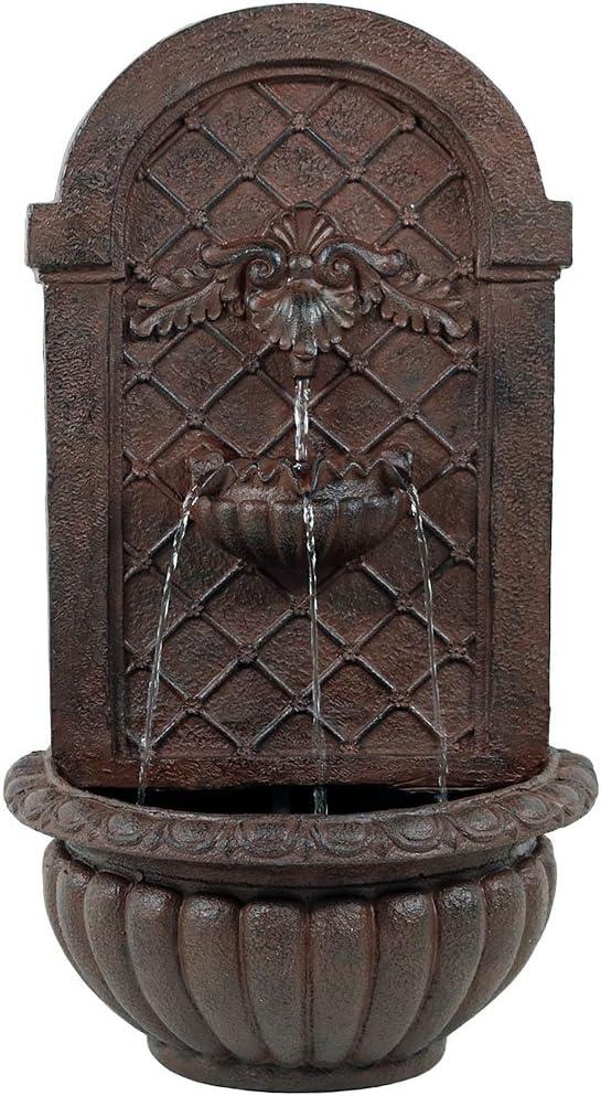 Sunnydaze Columbus Mall 67% OFF of fixed price Venetian Outdoor Wall Waterfall Water Fountain -