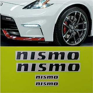 R&G NISMO Brake Caliper HIGH TEMP Decal Sticker Set of 4 (Black)