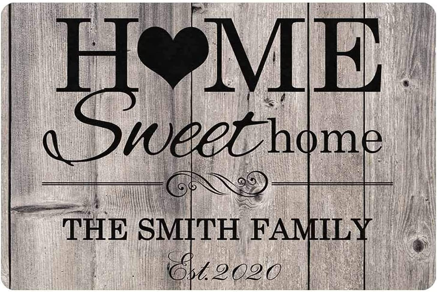 Personalized Home Sweet Home Sign Welcome Sign for Front Door Decor Rustic Wood Farmhouse Wall Decor Family Living Room Decoration