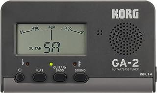 KORG ギター/ベース用チューナー GA-2 個人練習に最適 多弦ギター 多弦ベース フラットチューニング ロングスケールにも対応 200時間連続稼働 軽量 コンパクト