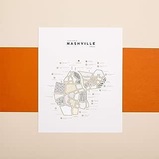 ROAM by 42 Pressed Nashville Map Print