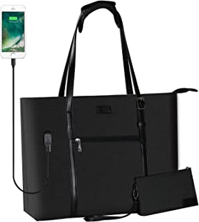 USB Laptop Tote Bag,Chomeiu Woman 15.6 inch Laptop Organizer Bag Teacher Work Purse