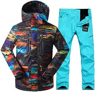 Skiing Suit Men's Winter Windproof Warm Thick Snow Suit Outdoor Waterproof Breathable Ski Jacket Ski Pants