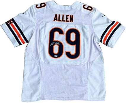 Jared Allen Signed Chicago Bears (Away White) Jersey PSA/DNA ...